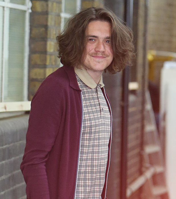 Frankie Cocozza outside ITV Studios 19 May 2016