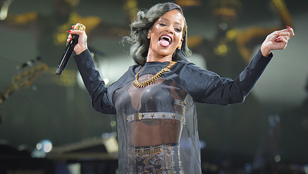 Rihanna performing live in concert part of her 'Diamonds World Tour' at The Globe Arena