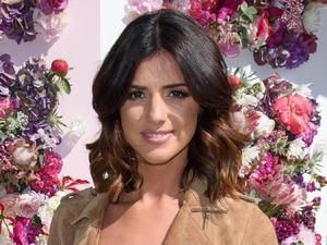 Lucy Mecklenburgh channels the 70s in seriously cute denim and suede combo