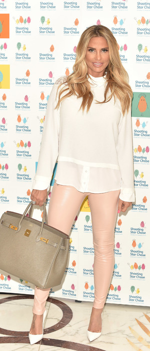 Katie Price treats sick children to afternoon tea at The Dorchester, 27th May 2016