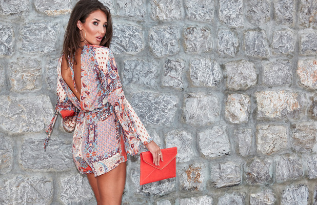 Ex On The Beach's Megan McKenna unveils new Miss Pap summer collection, playsuit, 24th May 2016