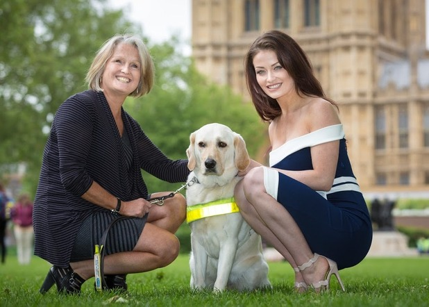 Jess Impiazzi and mum Debbie support Guide Dogs charity at parliament 25 May