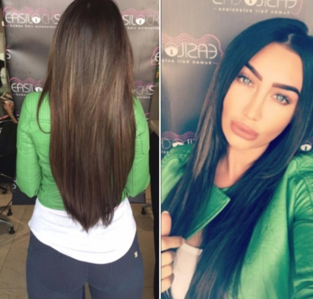 Lauren Goodger shows off new hair extensions 27 May