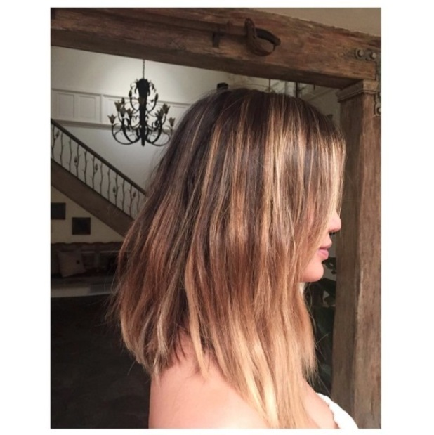 Chrissy Teigen and hairstylist Jen Atkin invent a new hairstyle and post it to Instagram, 23rd May 2016