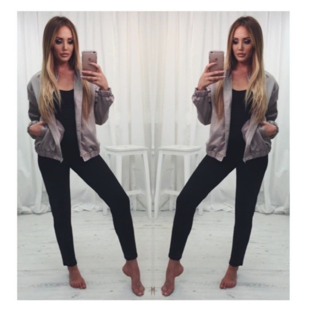 Geordie Shore's Charlotte Crosby shows off new bomber jacket in her In The Style collection, 26th May 2016