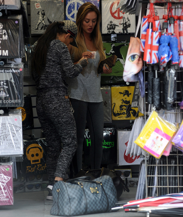 The cast of Geordie Shore head out this morning after celebrating their 5th Anniversary and fool around in the streets of Camden. - 25 May 2016