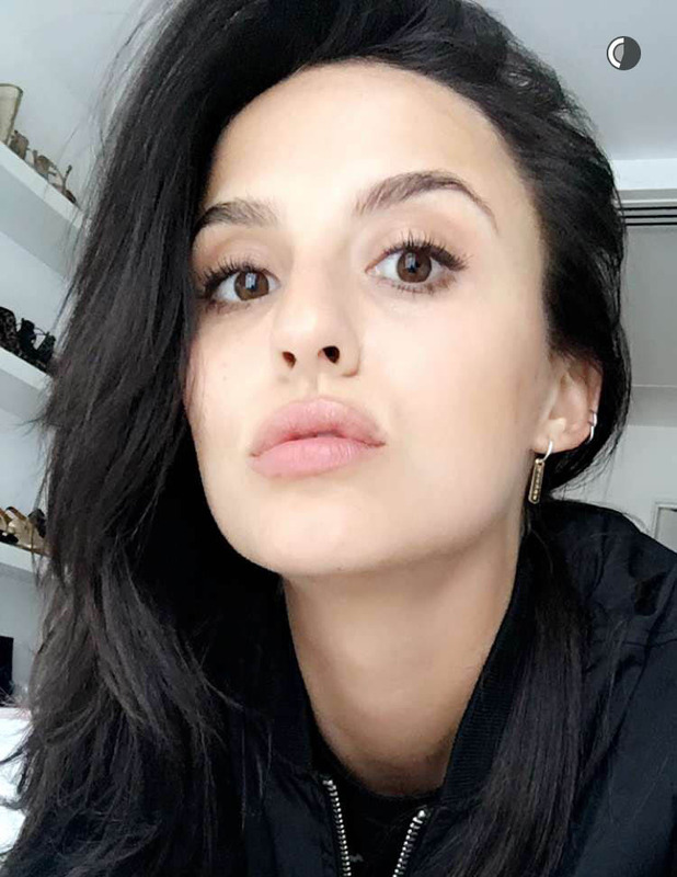 Made In Chelsea's Lucy Watson unveils her much darker hair on Snapchat, 26th May 2016