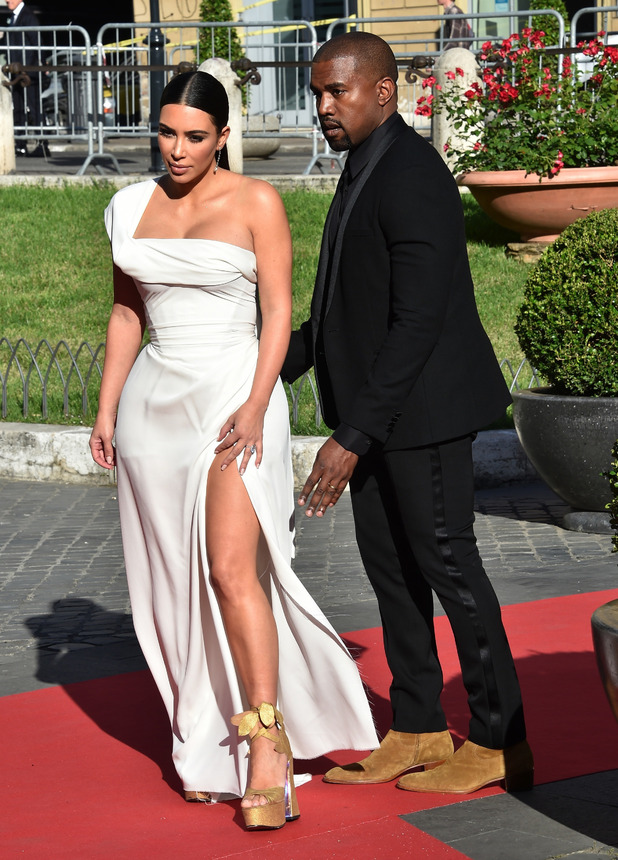 Kim Kardashian and Kanye West attend the La Traviata Opera Premiere in Rome, Italy, 22nd May 2016
