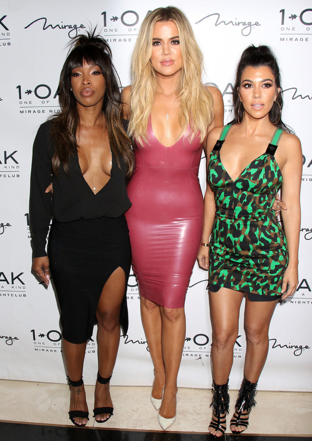 Khloe Kardashian, Kourtney Kardashian and Malika Haqq celebrating Scott Disick's birthday at 1Oak Nightclub inside Mirage Hotel & Casino, 28/5/16