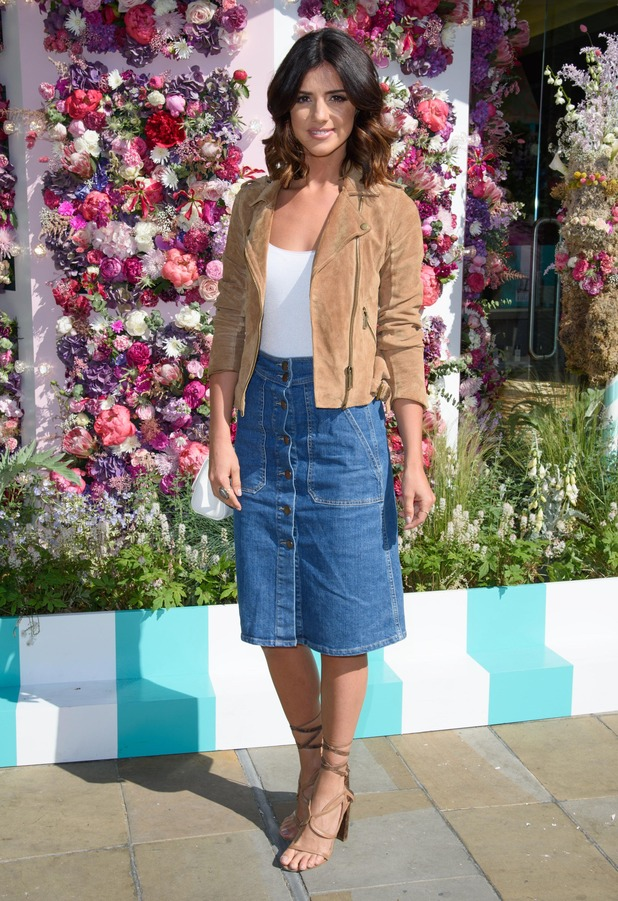 Former TOWIE star Lucy Mecklenburgh attends the Liz Earle Beauty Co. and Willow Crossley host #CARNIVEARLE breakfast event in London, 24th May 2016