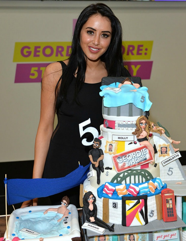 Marnie Simpson arrives for the 5th birthday Celebrations of 'Geordie Shore' at MTV London on May 24, 2016 in London, England.