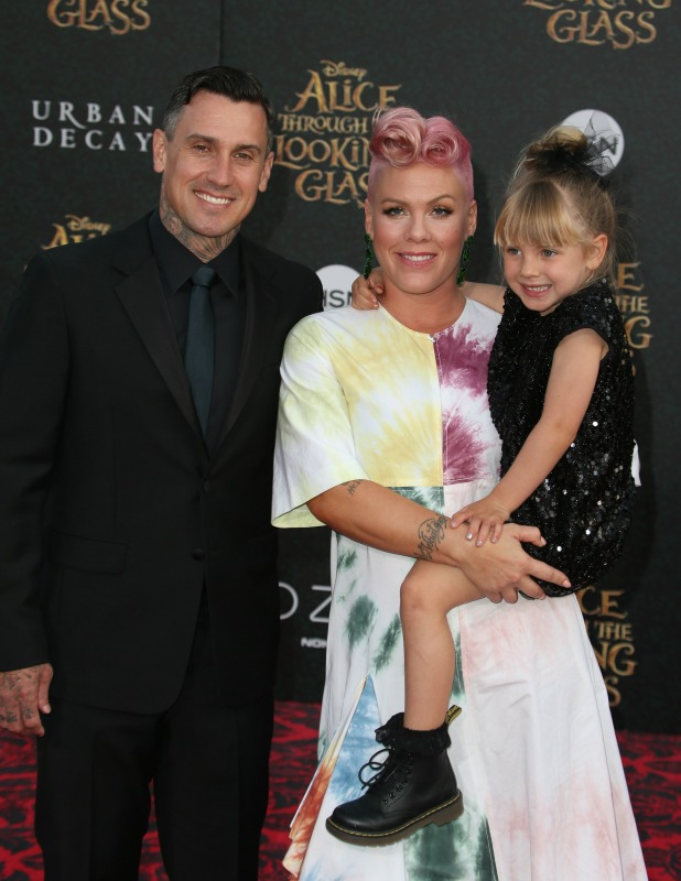 Premiere of Disney's 'Alice Through The Looking Glass' Pink, Carey Hart and Willow 23 May 2016