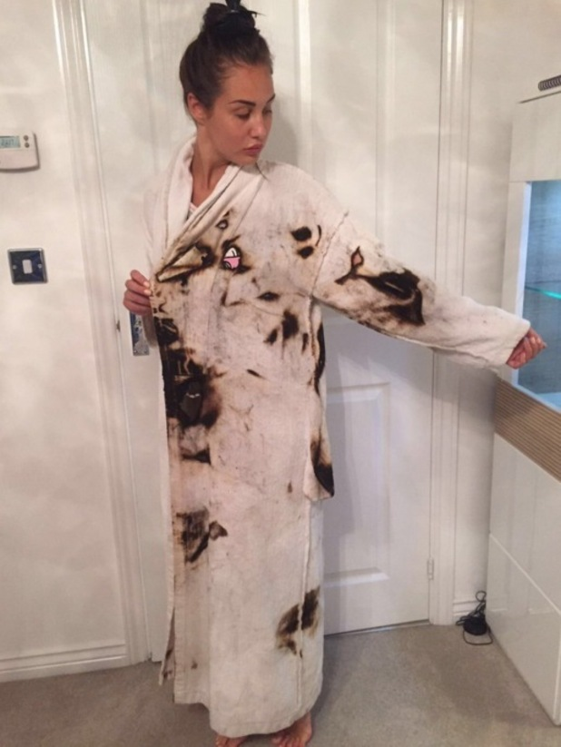 Chloe Goodman tweets about fire accident 31 May