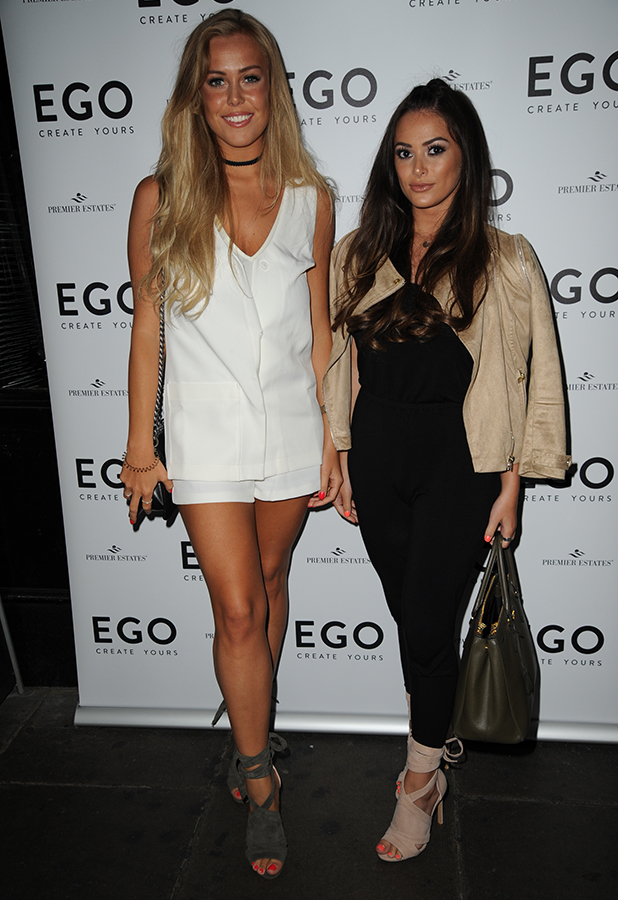 Shoe brand Ego's 1st Birthday at Bonbonniere Orchard street, London Courtney Green and Chloe Meadows 2 June 2016
