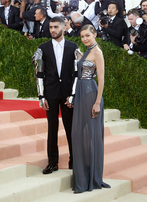 Gigi Hadid and Zayn Malik attend 'Manus x Machina: Fashion in an Age of Technology', the 2016 Costume Institute Gala at the Metropolitan Museum of Art on May 02, 2016 in New York, New York. (Photo by Taylor Hill/FilmMagic)