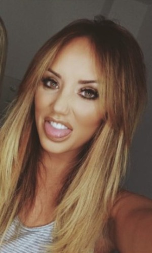 Charlotte Crosby looks hot wearing bargain iLashes in Eva, £2, make-up by Melissa Wharton, 4 June 2016
