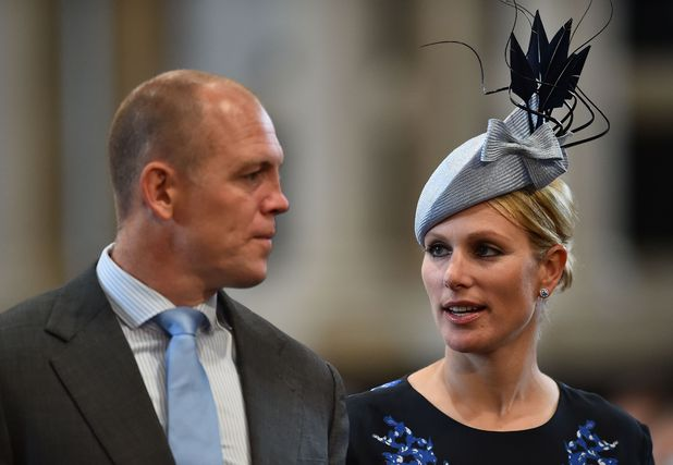 Zara Phillips (R) and her husband English former rugby player Mike Tindall (L) arrive to attend a national service of thanksgiving for the 90th birthday of Britain's Queen Elizabeth II at St Paul's Cathedral in London on June 10, 2016