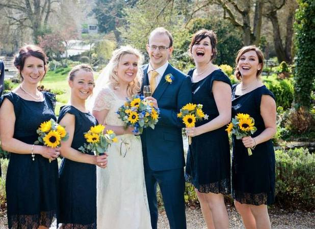 Jo and her bridesmaids