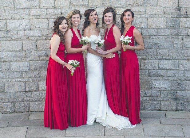 Kim and her bridesmaids