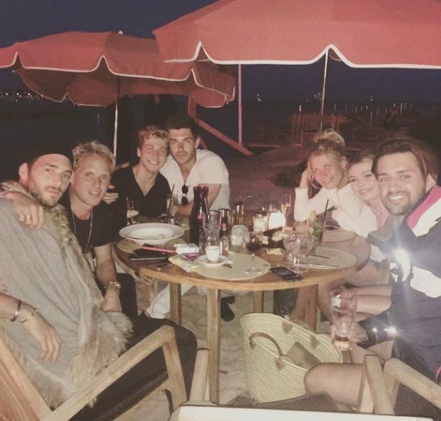 Sam Thompson, Ollie Locke, Jamie Laing, Alex Mytton, Georgia Toff,  Frankie Gaff and Matt Draper in Cannes, 12/6/16