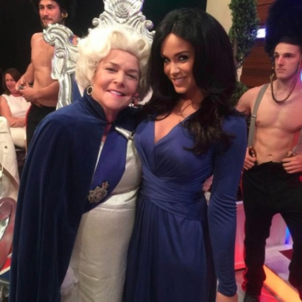 Vicky Pattison as Kate Middleton and Linda Robson as the Queen on Loose Women, Queen's 90th, June 2016
