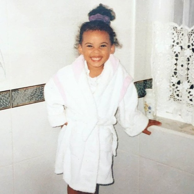 Rochelle Humes childhood picture, posted on Instagram June 2016