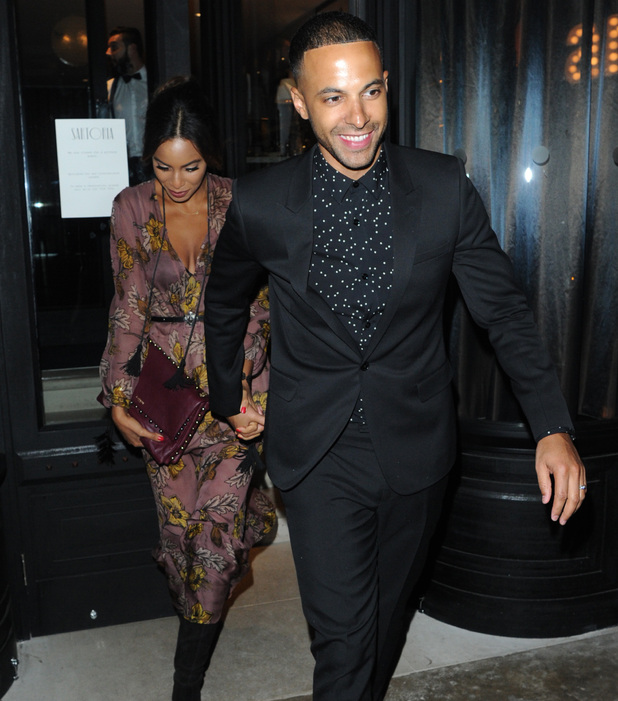 Marvin Humes and wife Rochelle, GQ Closing Mens Fashion Dinner LFW 11 January