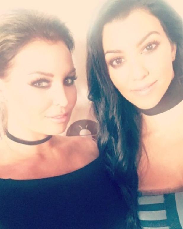 Jessica Wright meets Kourtney Kardashian at Manuka Honey event, London, 8 June 2016
