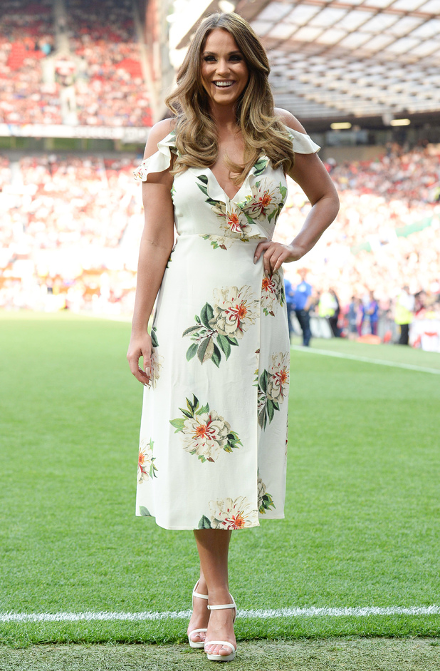 Vicky Pattison attends Soccer Aid 2016, Old Trafford, Manchester 5 June