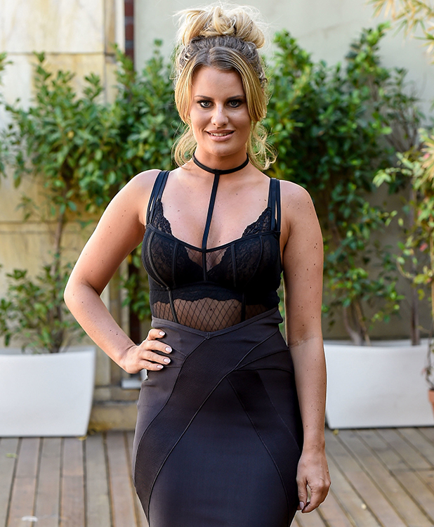 """TOWIE cast arrive at Cavalli Club in Marbella for filming """"The Only Way Is Marbs"""" special Danielle Armstrong 2015"""