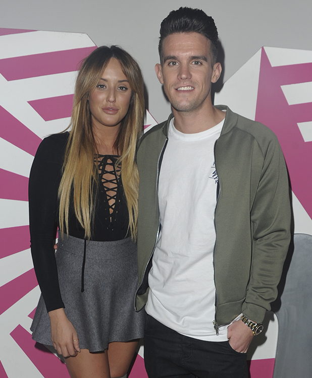 Geordie Shore cast seen at MTV Headquarters to view the latest episode and stream live on periscope Gaz and Charlotte 2015