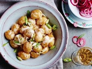 Easy Summer Potato Salad recipe from The Social Kitchen Cookbook