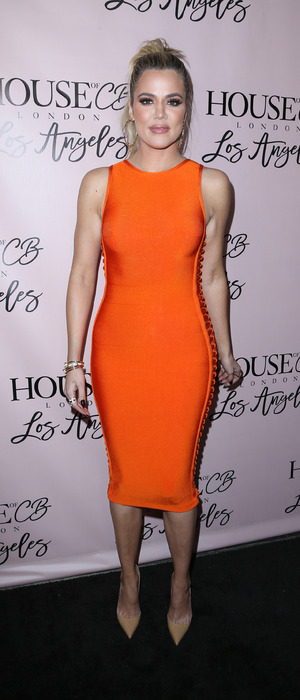 Khloe Kardashian wears striking orange dress to the House of CB Flagship Store launch party, 14th June 2016