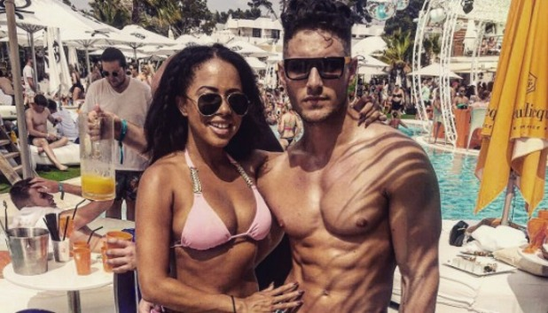 James Moore and Olivia Walsh at Ocean Beach Ibiza June 2016