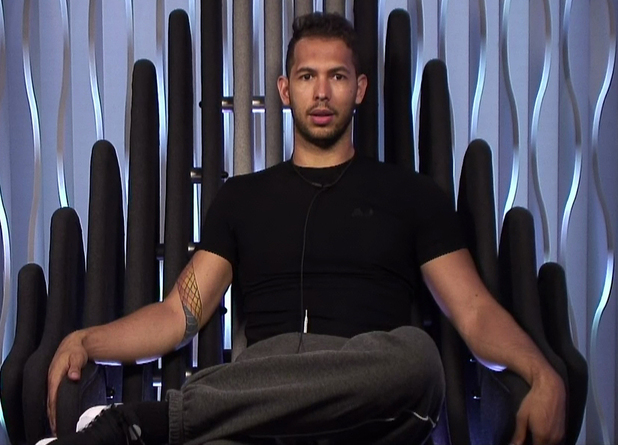 Andrew Tate is removed from Big Brother - 13 June 2016