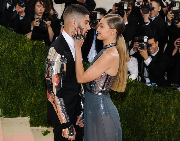 Gigi Hadid and Zayn Malik attend Metropolitan Museum of Art Costume Institute Gala 2 May
