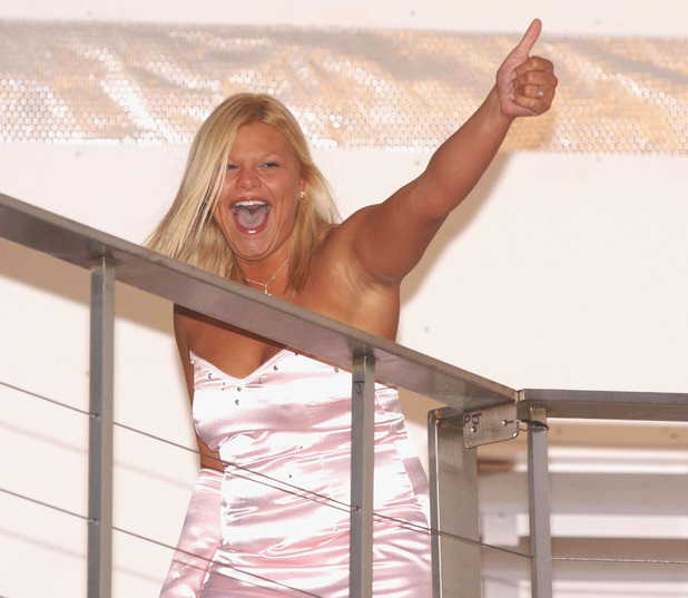 Jade Goody comes 3rd in the Big Brother Final, Elstree Studios, Borehamwood.Britain - August 2002