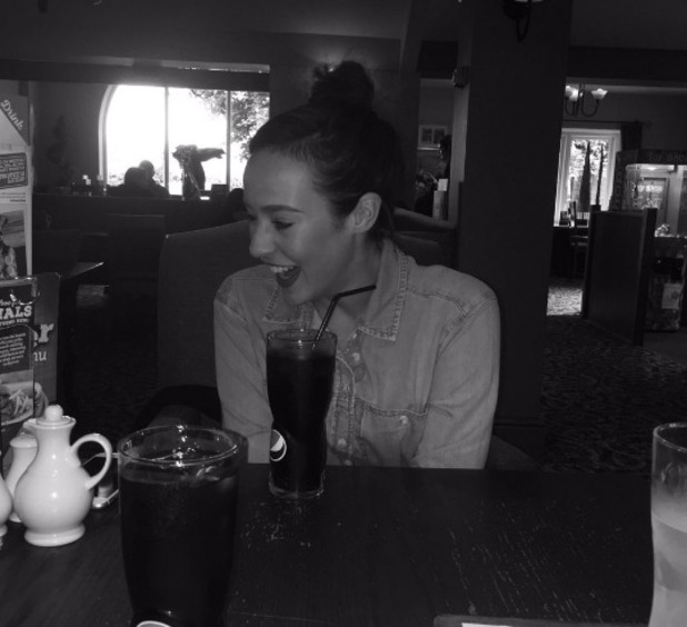 Stephanie Davis shares photo from restaurant, 14 June 2016