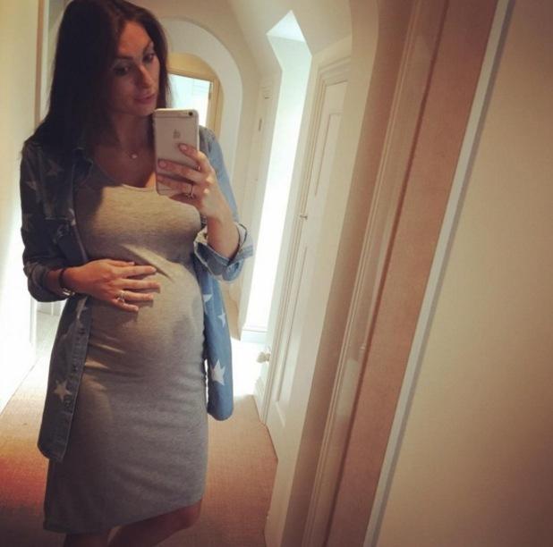 Luisa Zissman baby bump selfie (at eight months) 13 June