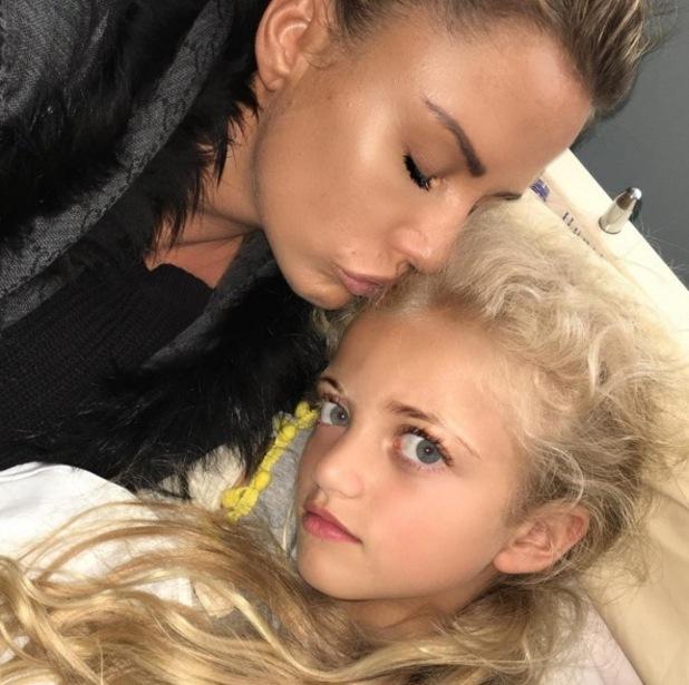 Katie Price and daughter Princess in hospital 13 June