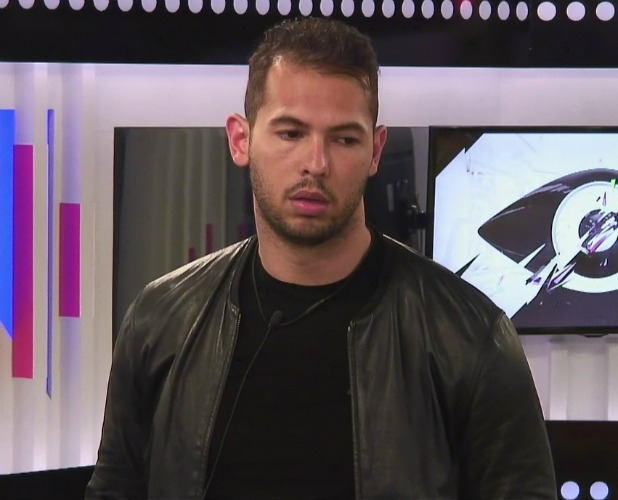 Andrew Tate, one of 'The Others' on 'Big Brother'. Broadcast on Channel 5 HD. 2016