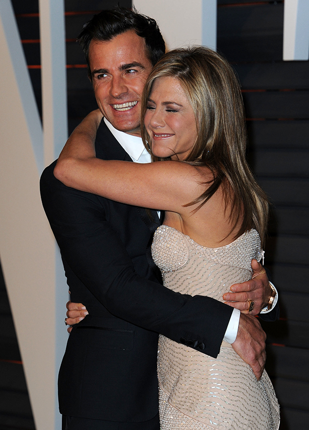 2015 Vanity Fair Oscar Party Hosted By Graydon Carter Jennifer Aniston, Justin Theroux