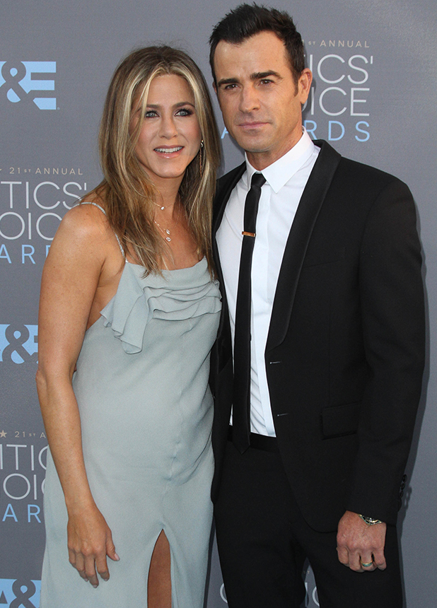 21st Annual Critics Choice Awards 2016 held at the Barker Hanger Airport in Santa Monica. Jennifer Aniston and Justin Theroux
