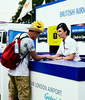 British Airways tent at Isle of Wight Festival 2016