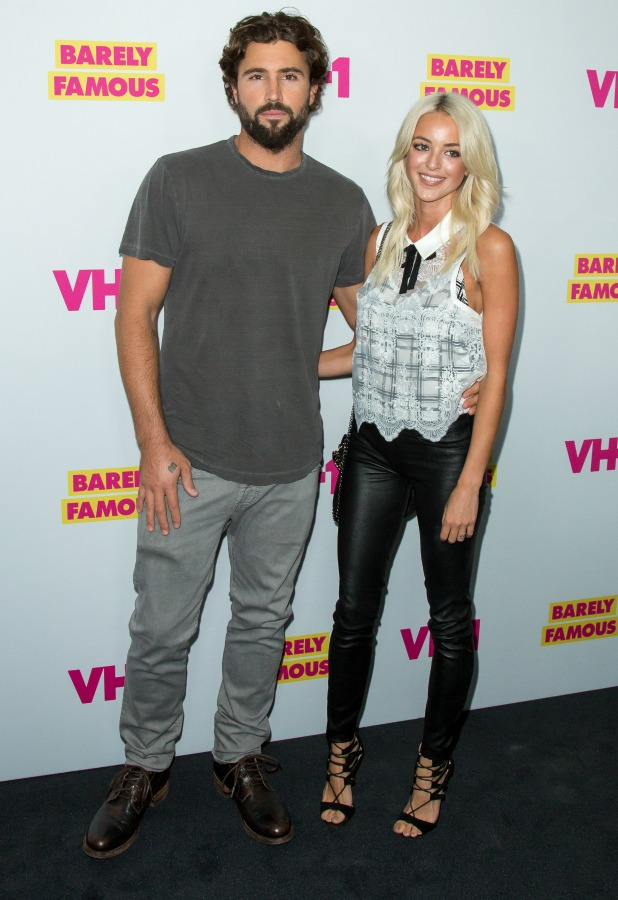 TV personality Brody Jenner (L) and blogger Kaitlynn Carter Barely Famous, series 2 premiere, 2016