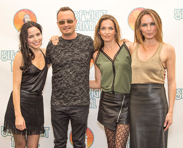Andrea Corr, Jim Corr, Caroline Corr and Sharon Corr from Corrs at the Isle Of Wight Festival 2016 at Seaclose Park on June 11, 2016 in Newport, Isle of Wight. (Photo by Rob Ball/WireImage)