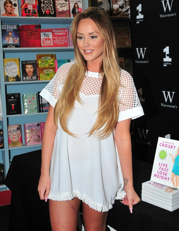 Charlotte Crosby signs copies of her new book 'Live Fast, Lose Weight' at Waterstones