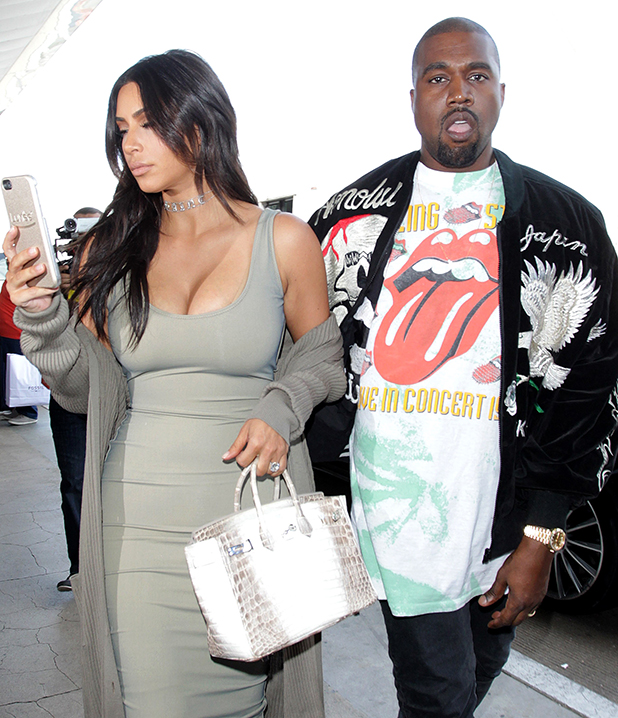 Kim Kardashian and Kanye West are seen on June 12, 2016 in Los Angeles, California.