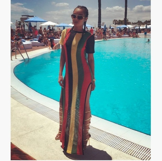 Little Mix's Leigh-Anne Pinnock wears Pretty Little Thing dress, 23rd June 2016