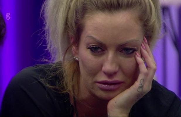 Charlie breaks down in tears when talking to ex boyfriend Jason on 'Big Brother'. Broadcast on Channel 5HD